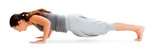woman pushup